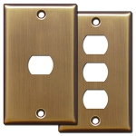Antique Brass Despard Switch Covers
