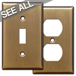 Antique Brass Wall Plates - Best Selling Sizes