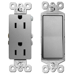 Nickel Electrical Outlets & Light Switches
