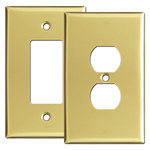 Polished Brass Oversized Light Switch Plates
