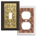 Vine Decorative Outlet Covers u0026 Switch Plates  sc 1 st  Kyle Switch Plates & Kyle Design Decorative Switch Plates Unique Metal Wall Plate Covers