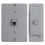 Gray Phone & Cable Jacks