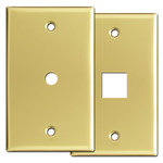Polished Brass Cable Outlet & Phone Jack Covers