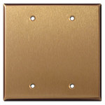 Satin Bronze Blank Switch Plate Covers