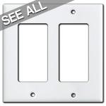White Decora Rocker Switch Plates