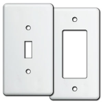 White Tall Light Switch Plate Covers