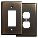 Oil Rubbed Bronze Jumbo Light Switch Plates