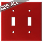 Red Toggle Switch Plate Covers