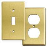 Satin Brass Switch Plates