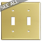 Polished Brass Toggle Light Switch Plates