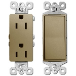Antique Brass Light Switches & Sockets