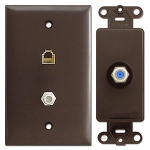 Brown Phone & Cable Jacks