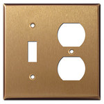 Satin Bronze Combo Light Switch Plates