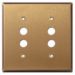 Satin Bronze Pushbutton Wall Plates