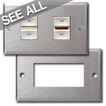 GE RCS Style Low Voltage Wall Plate Covers