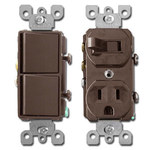 Brown Combo Switches & Receptacles