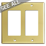 Polished Brass Decora Rocker Switch Plates