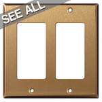 Satin Bronze Decora Rocker Switch Plates
