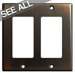 Oil Rubbed Bronze Decora Rocker Switch Plates