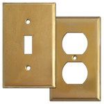 Raw Brass Light Switch Covers