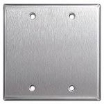 302 Stainless Steel Blank Electrical Cover Plates