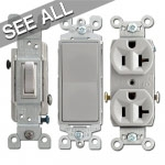 Gray Electrical Outlets & Light Switches