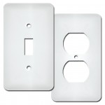 White Wrinkle Switch Plates