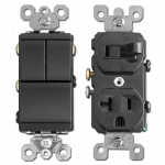 Black Combo Switches & Outlets