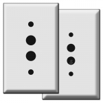 Push Button Light Switch Plates