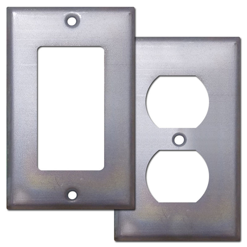 Raw Steel Wall Switch Plates