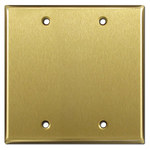 Satin Brass Blank Switch Cover Plates