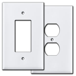 White Oversized Outlet Covers & Switch Plates