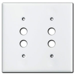White Push Button Light Switch Plates
