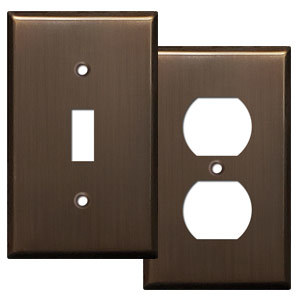 Venetian Bronze Light Switch Covers