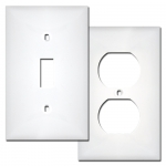 White Plastic Switch Plates