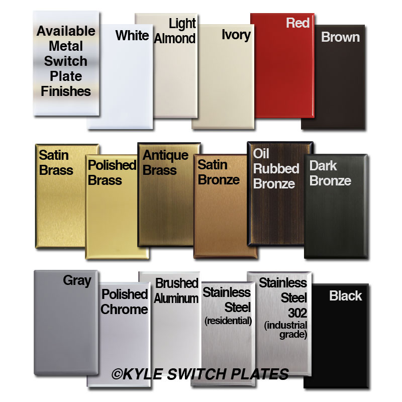 Metal Light Switchplate Finishes