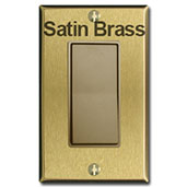 Antique & Satin Brass Devices & Cover Plates