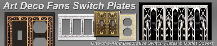 Art Deco Fans Decorative Switchplates