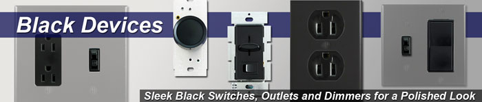 Black Electrical Outlets and Light Switches for Wall Switch Plates