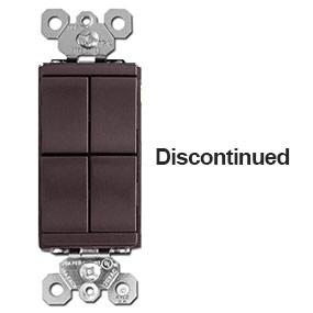 Brown 4-Rocker Light Switch