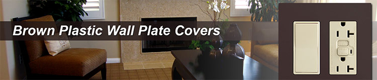 Brown Plastic Wall Plate Covers