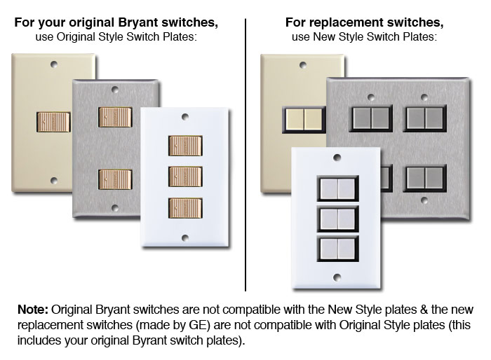 Bryant Low Voltage Lower Banner on Bryant Low Voltage Switch Plate