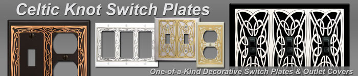 Decorative Celtic Knot Switch Plates