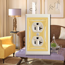 Contemporary formal living room switch plates