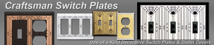 Decorative Craftsman Switch Plates