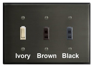 Dark Bronze Plates with Switches
