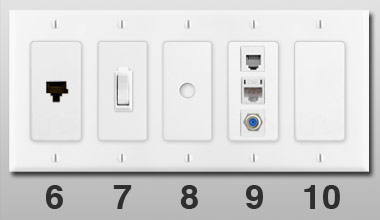 Electrical Outlets & Light Switches for Wall Switch Plates