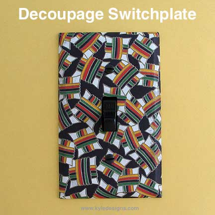 DIY Decoupage Switch Plates Step by Step Instructions