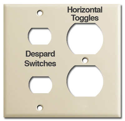 Despard Switch Plate Openings