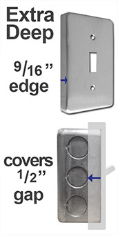 Extra Deep Light Switch & Outlet Covers